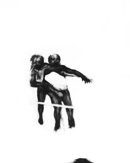 Effacement 2_2011 Fusain sur papier BFK Rive 91,5cm x 137cm