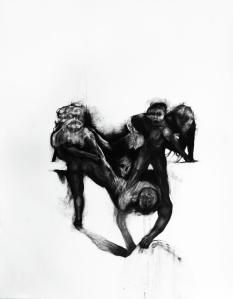 Effacement 3_2011 Fusain sur papier BFK Rive 91,5cm x 137cm
