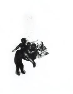 Effacement 4_2011 Fusain sur papier BFK Rive 91,5cm x 137cm