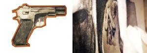 Fusain sur papier BFK Rive collage du dessin d'origine sur plexiglas crayon de plomb dans la trouée sur papier BFK Rive (enfant jouant à la cachette) cadre standardisé reconstruit environ 71 cm X 58,4 cm