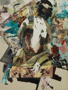 Masque de soldat_2015 Acrylique sur toile 41 cm X 54 cm