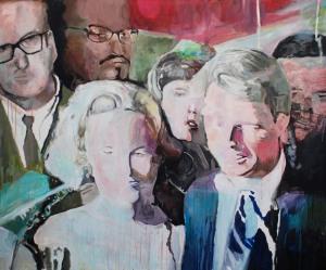 Étude d'un portrait de Robert Kennedy_2013 Acrylique sur toile 152,5cm X 183cm