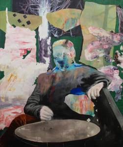 Manifestation_1 _2015 Acrylique sur toile 152,5cm X 183cm