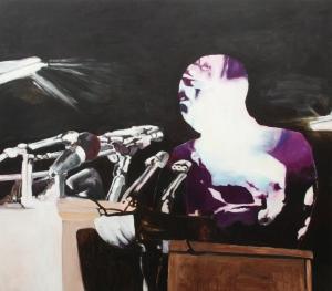 Luther king et manifestation_2014 Acrylique sur bois 107 cm X 122 cm