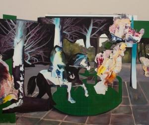 Manifestation 4_2015 Acrylique sur toile 152,5cm X 183cm