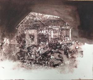 Forge3/ Aurore _2014 Impression et Acrylique sur papier BFK RIVE 20 cm X 28 cm