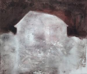 Forge8/ Aurore _2014 Impression et  Acrylique sur papier BFK RIVE  20 cm X 28 cm