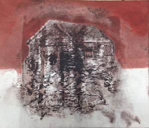 Forge1/ Aurore _2014 Impression et  Acrylique sur papier BFK RIVE  20 cm X 28 cm