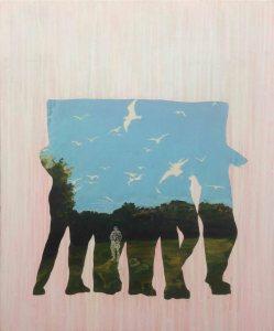 Les soldats_2014 Acryliques sur toile 61 cm X 81 cm