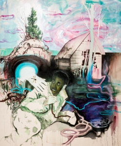 La main des dieux_Acrylique sur toile_152,5cm X 183 cm disponible