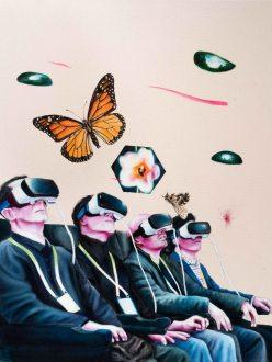 Chronique d'une virtualité annoncée_2017_Acrylique sur toile_76 cm X 92 cm Disponible
