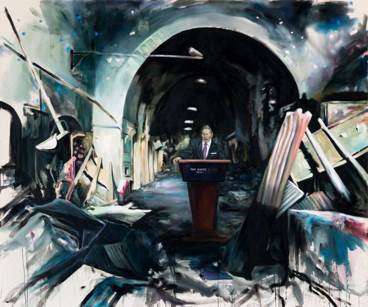 Sans lever le petit doigt_2017_Acrylique sur toile_152,5 cm X 183 cm Collection privée