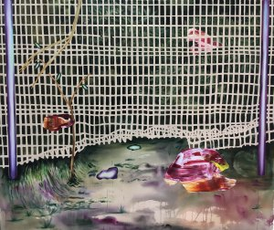 Capteur de migrants_2017_Acrylique sur toile_152,5 cm X 183 cm Disponible