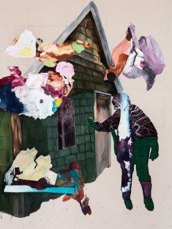 _Manifestation 2_2015__Acrylique sur toile_152,5 cm X 183 cm Collection privée