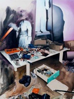 Dédoublement_2016_Acrylique sur toile_152,5cm X 183cm disponible